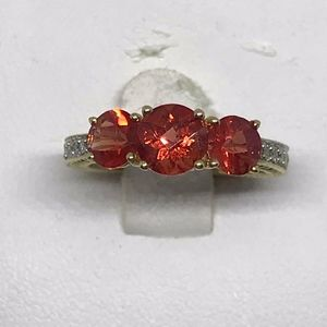 Jewelry - NWOT Spessartite Garnet & Diamond 10K YG Ring